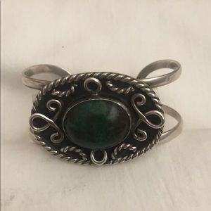 Silver bracelet of 925-th with a turquoise stone